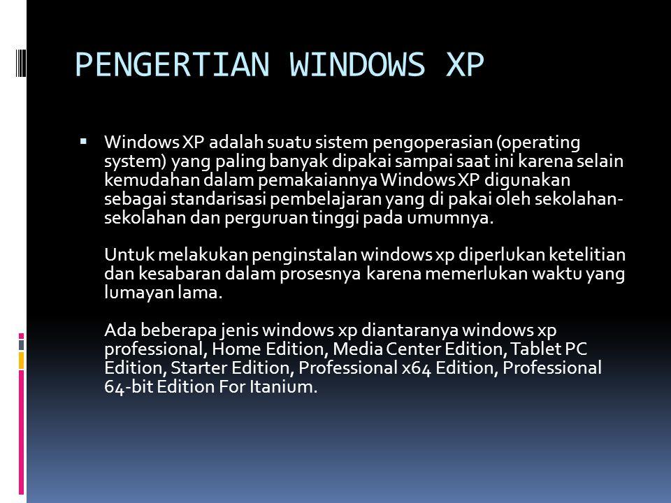  1.Siapkan CD WINDOWS XP 2. Siapkan CD DRIVER MOTHERBOARD 3.