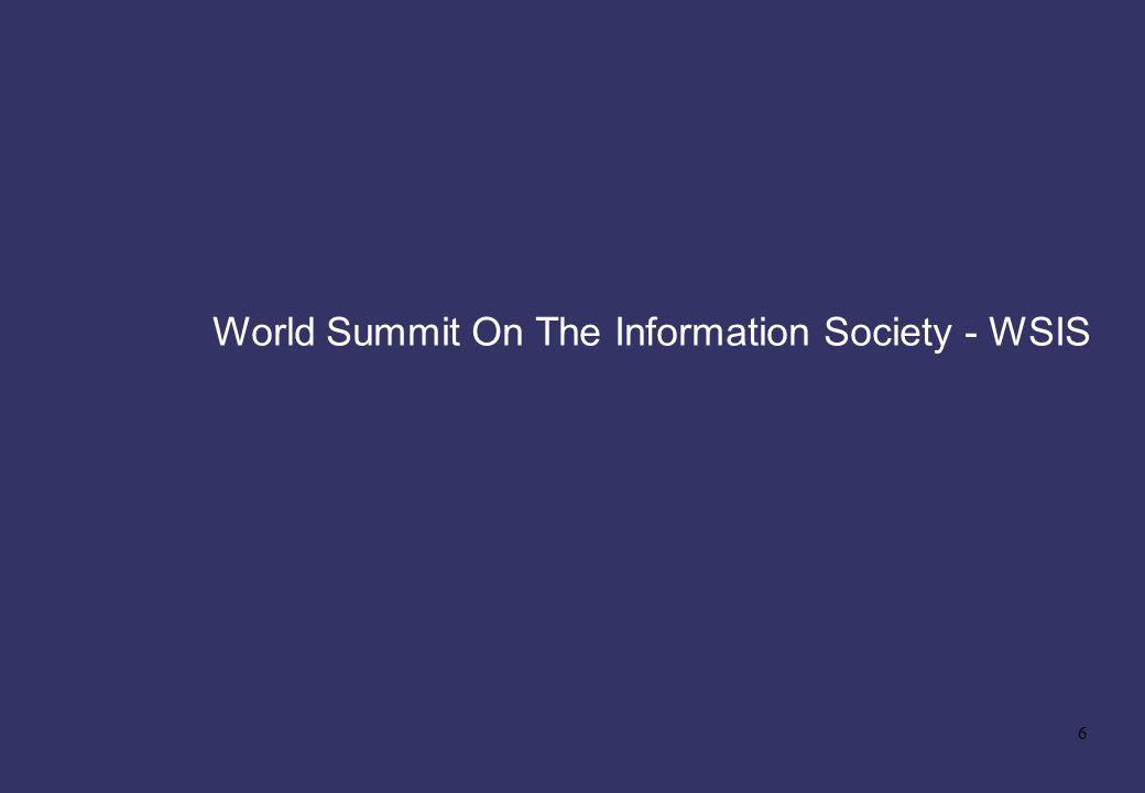 6 World Summit On The Information Society - WSIS
