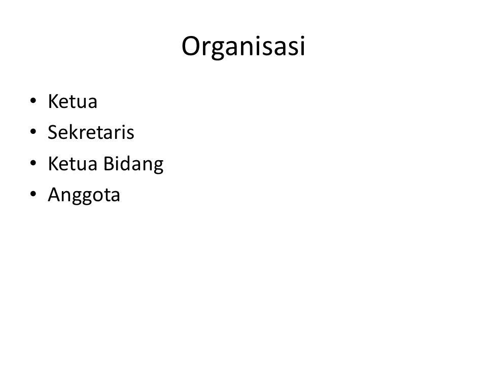 Organisasi Ketua Sekretaris Ketua Bidang Anggota