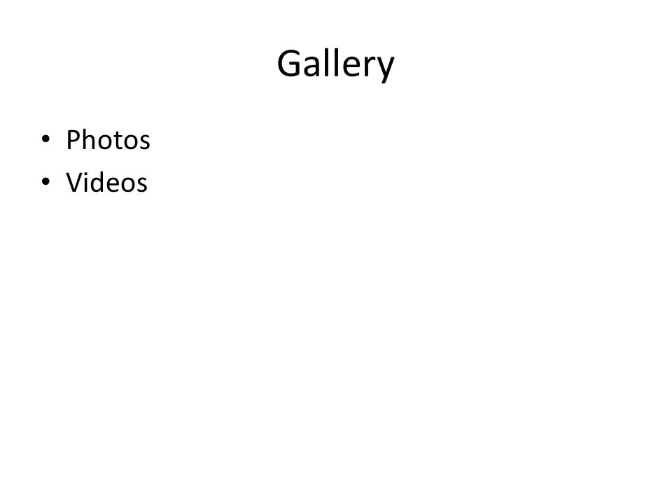 Gallery Photos Videos