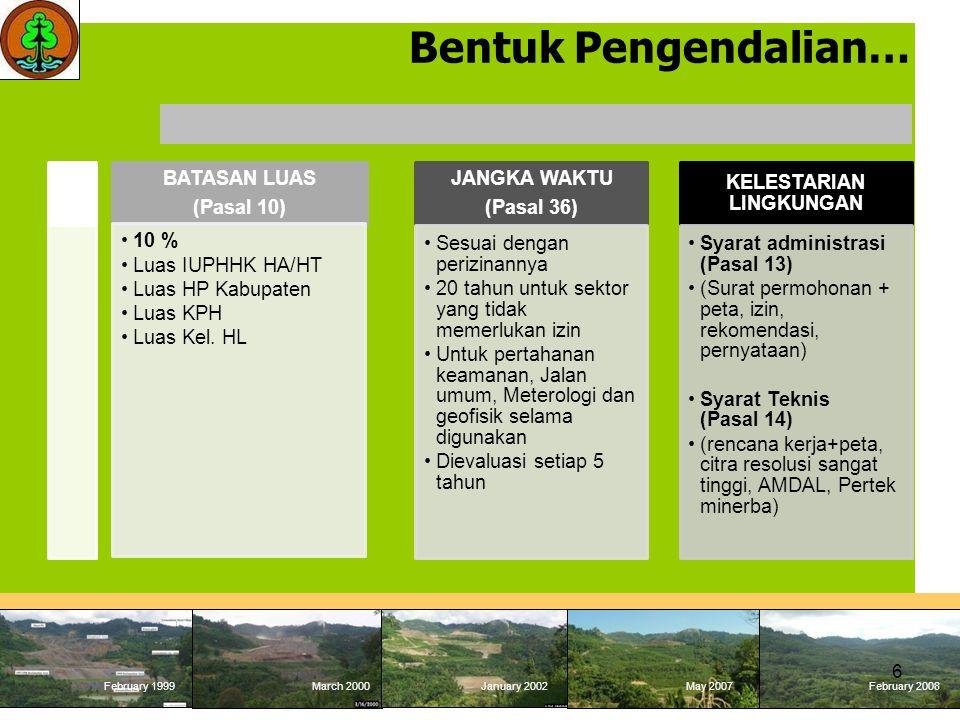 February 1999 March 2000January 2002May 2007 February 2008 February 1999March 2000January 2002May 2007February 2008 TATA CARA PENGENAAN, PEMUNGUTAN DAN PENYETORAN PNBP PKH PNBP-PKH dihitung dan disetor secara sendiri (Self Assessment) oleh Wajib Bayar berdasarkan baseline penggunaan kawasan hutan (Form PNBP-1) pada masing- masing kategori L1, L2, L3 yang disusun oleh Wajib Bayar; PNBP dibayarkan di awal pada jatuh tempo.