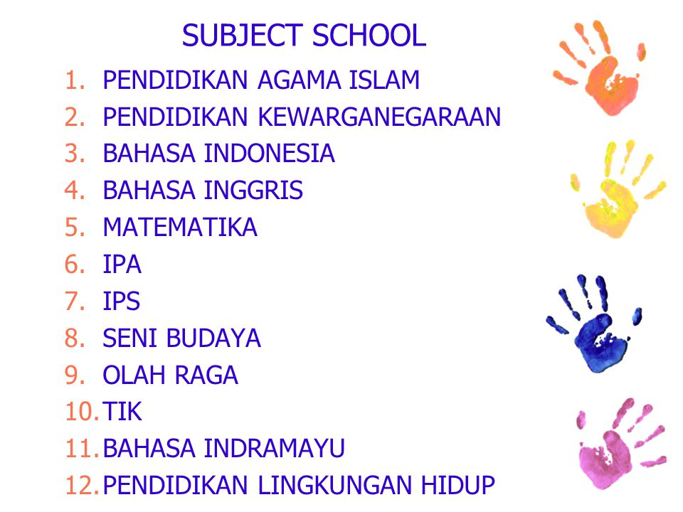 SCHOOL START FROM 2012/2013 KELAS 7 (30 STUDENTS) & KELAS 8 (15 STUDENTS)