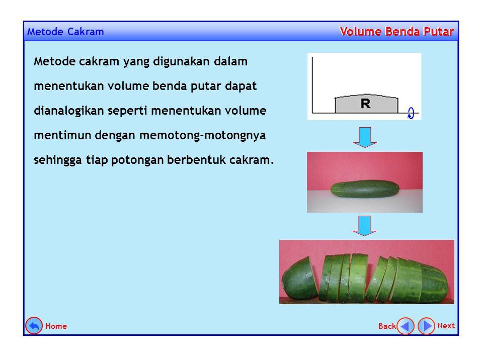 Pendahuluan Volume Benda Putar Volume Benda Putar Dalam menentukan volume benda putar yang harus diperhatikan adalah bagaimana bentuk sebuah partisi j