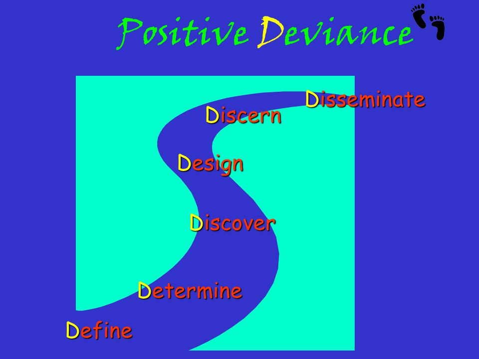 Positive Deviance Determine Discover Design Discern Disseminate Define