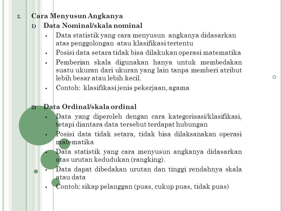 PENGGOLONGAN DATA STATISTIK 1.