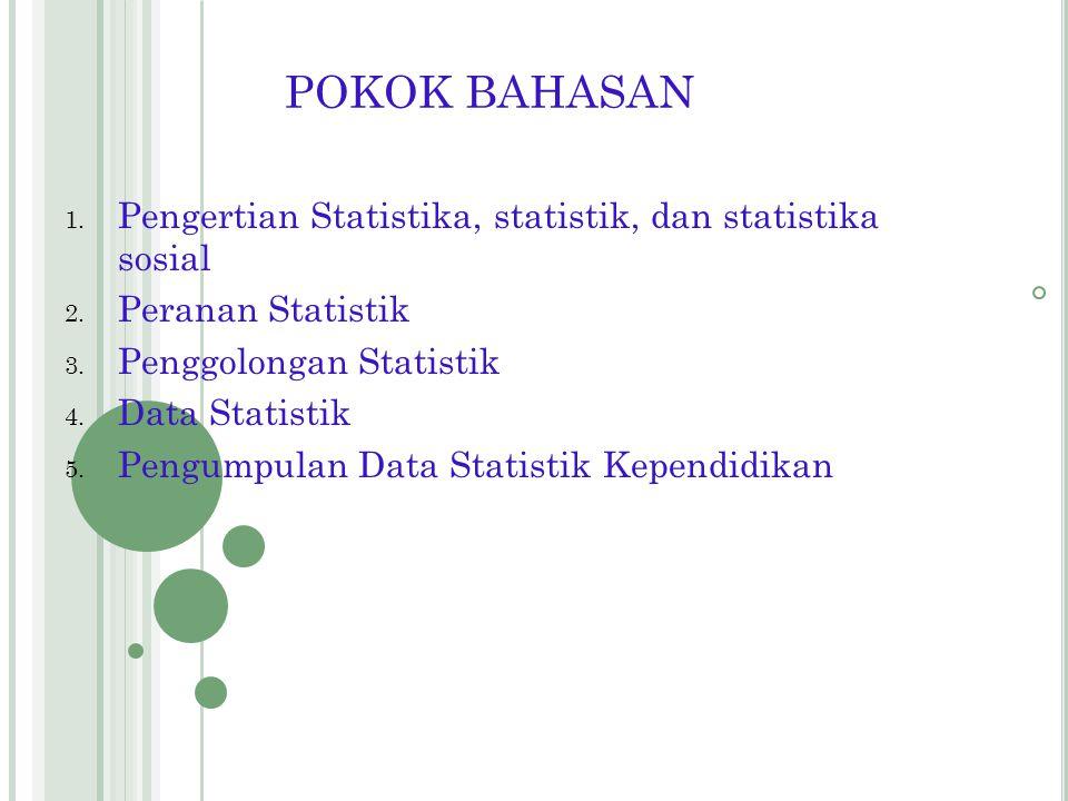 PENGANTAR STATISTIKA PPKn By. Raharjo http://raharjo.wordpress.com