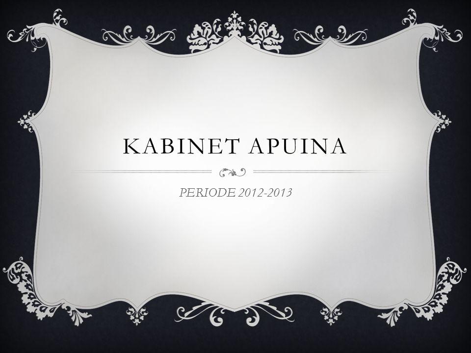 KABINET APUINA PERIODE 2012-2013