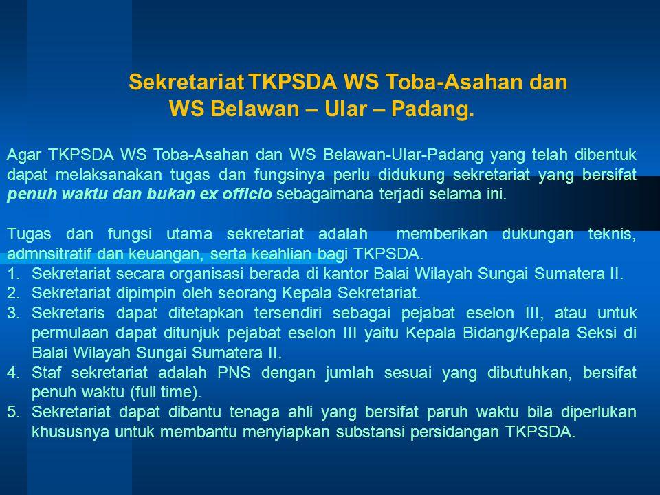Mekanisme Pemilihan Anggota (1)Sekretariat TKPSDA WS strategis nasional menetapkan jumlah anggota TKPSDA strategis nasional dari unsur pemerintah dan