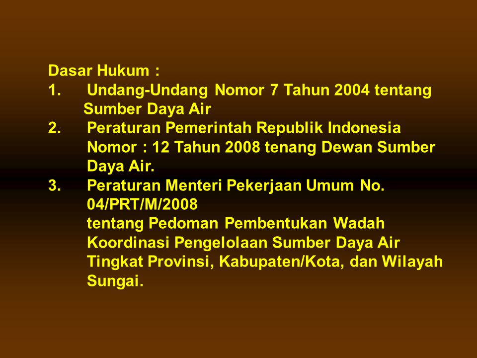 Sekretariat TKPSDA WS Toba-Asahan dan WS Belawan – Ular – Padang.