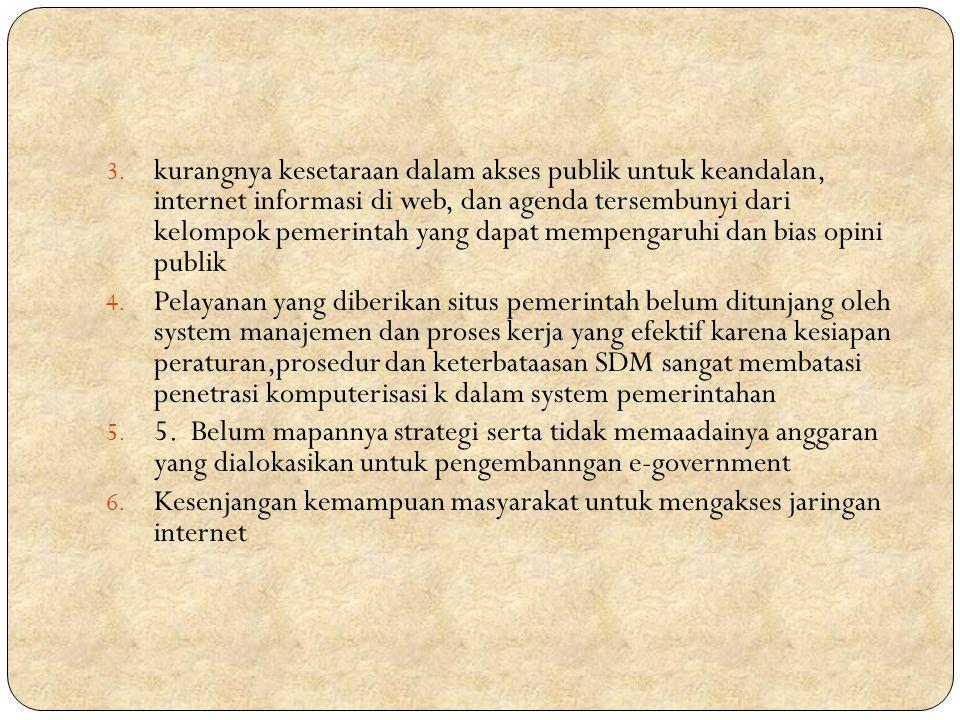 Referensi Slide http://blog.pasca.gunadarma.ac.id/2012/11/19/pemanfaat an-e-government-dalam-pelayanan-publik-di-indonesia-oleh- endah-eka-setawati-41-mmsi2/ http://blog.pasca.gunadarma.ac.id/2012/11/19/pemanfaat an-e-government-dalam-pelayanan-publik-di-indonesia-oleh- endah-eka-setawati-41-mmsi2/ http://pengertiandancontoh.blogspot.com/2013/02/penge rtian-e-government.html http://pengertiandancontoh.blogspot.com/2013/02/penge rtian-e-government.html http://id.wikipedia.org/wiki/Pemerintahan_elektronik
