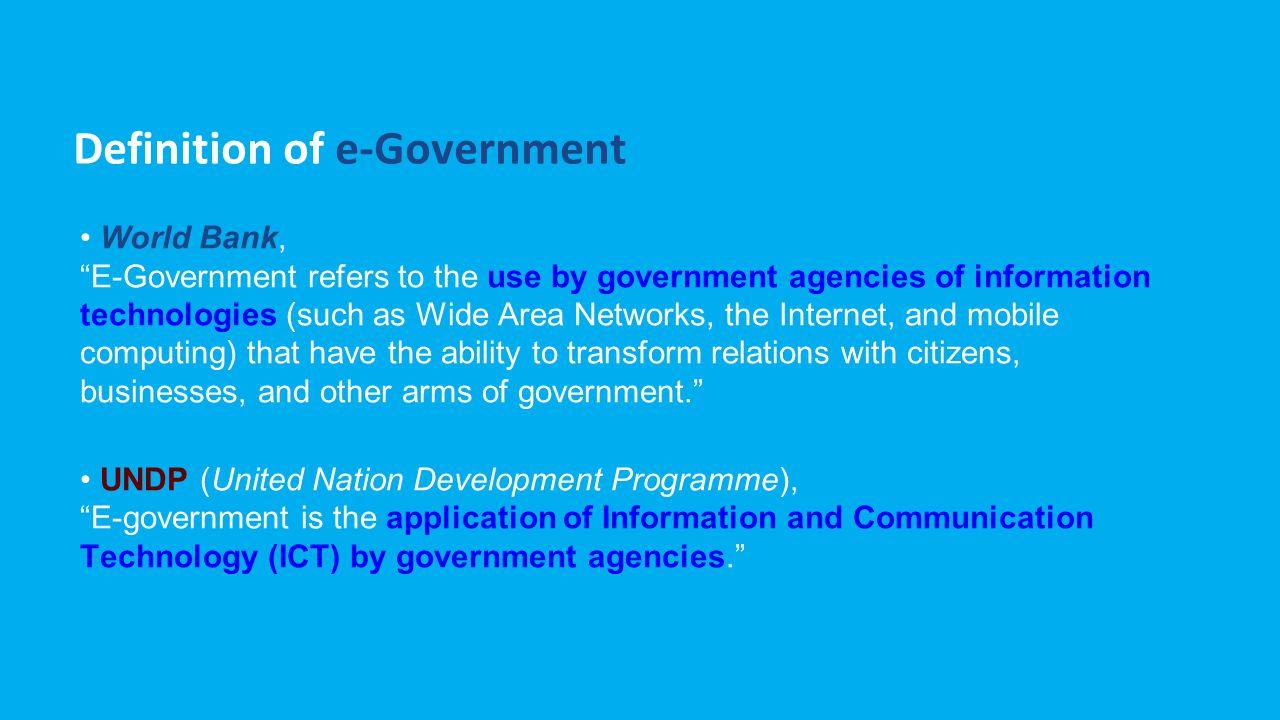 Contoh E-Government di Australia Awal 1990 an pemerintah Australia mengeluarkan kebijakan formal, yaitu menyediakan pelayanan informasi secara online di seluruh lembaga pemerintahan Australia.