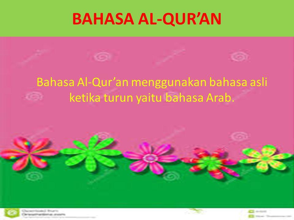 STRUKTUR PENULISAN Kosa kata yang sinonim disebutkan dalam jumlah yang sama Al-harz Al-dhallun Al-Qur'an Al-aql Al-jahr Al-usb Az-Zira'ah Al-mawta Al-wahyu An-nur Al-alamiyah Al-dhurur 14 17 70 49 16 27