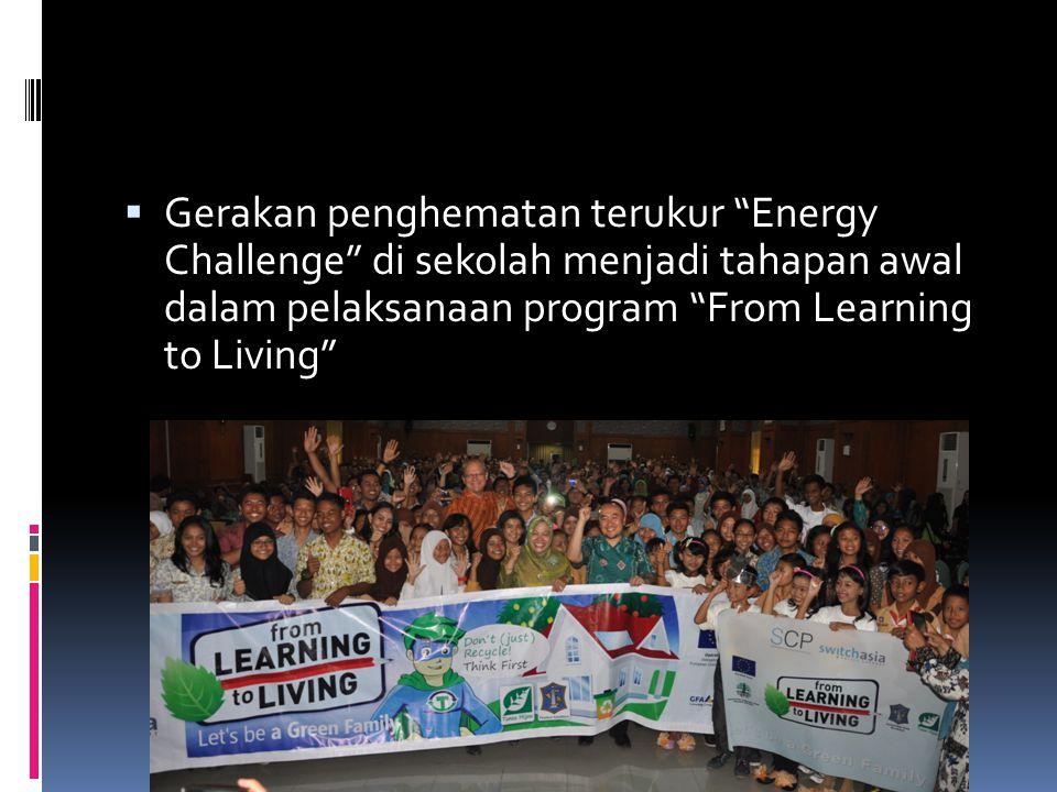  Gerakan penghematan terukur Energy Challenge di sekolah menjadi tahapan awal dalam pelaksanaan program From Learning to Living