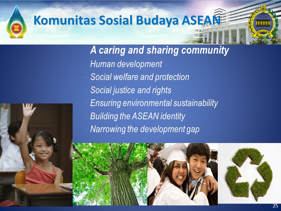 A caring and sharing community Human development Social welfare and protection Social justice and rights Ensuring environmental sustainability Buildin