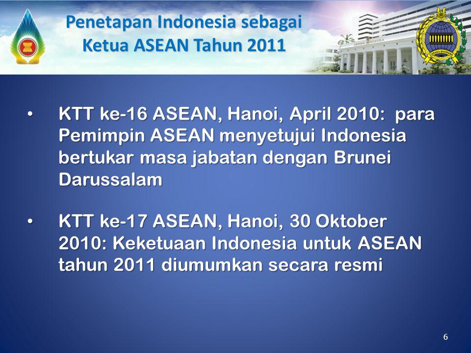 KTT ke-16 ASEAN, Hanoi, April 2010: para Pemimpin ASEAN menyetujui Indonesia bertukar masa jabatan dengan Brunei Darussalam KTT ke-16 ASEAN, Hanoi, Ap