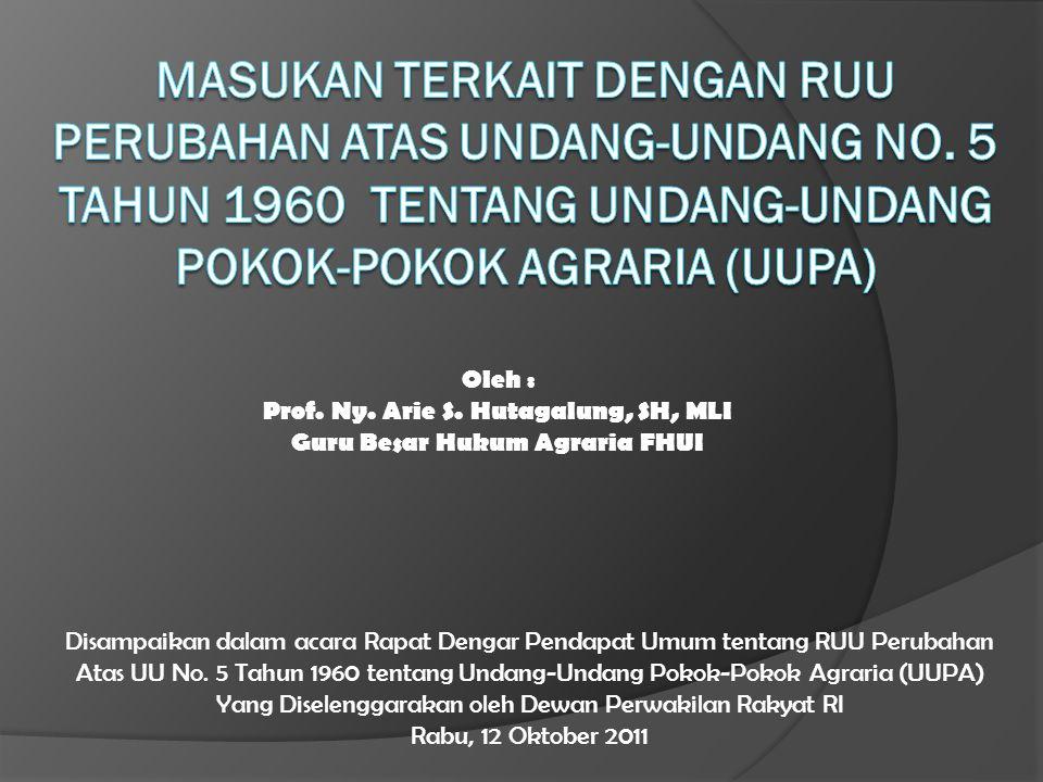 Oleh : Prof.Ny. Arie S.