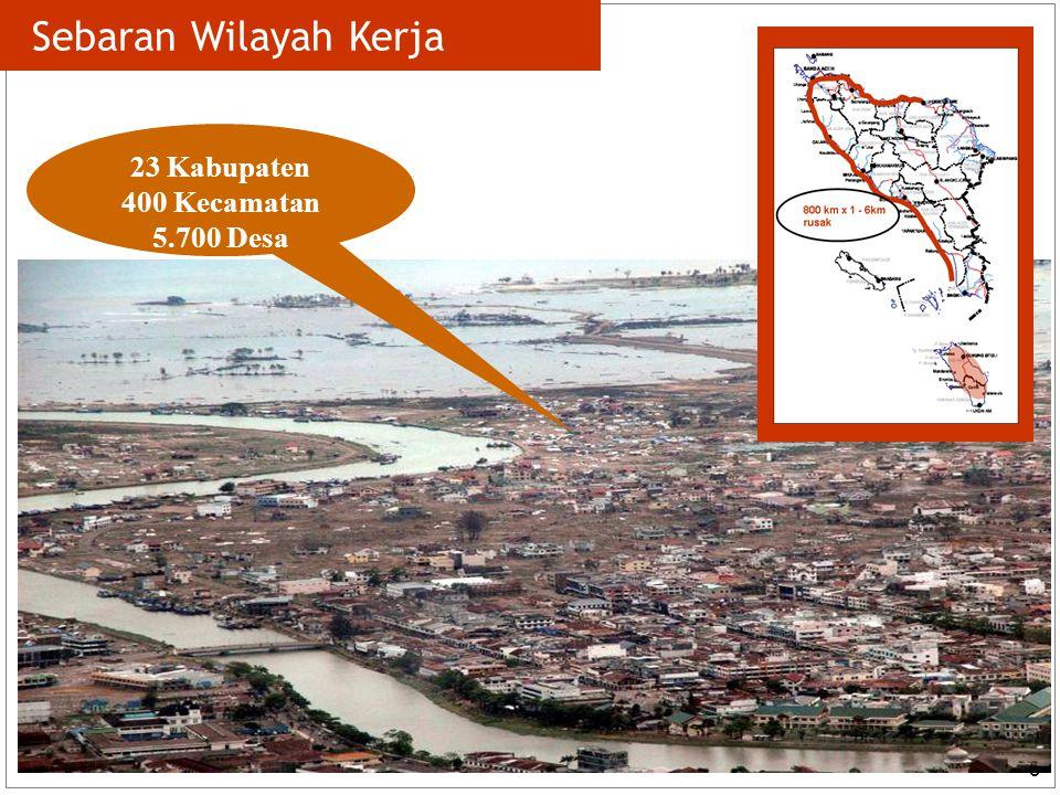 3 Sebaran Wilayah Kerja 23 Kabupaten 400 Kecamatan 5.700 Desa