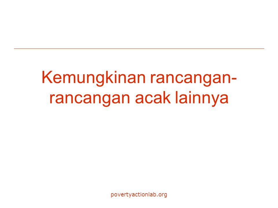 povertyactionlab.org Kemungkinan rancangan- rancangan acak lainnya
