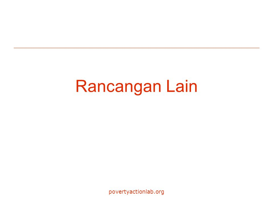 povertyactionlab.org Rancangan Lain