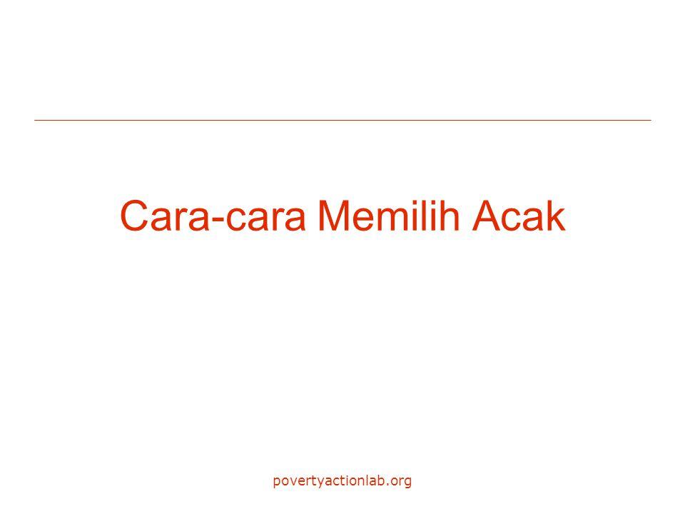 povertyactionlab.org Cara-cara Memilih Acak