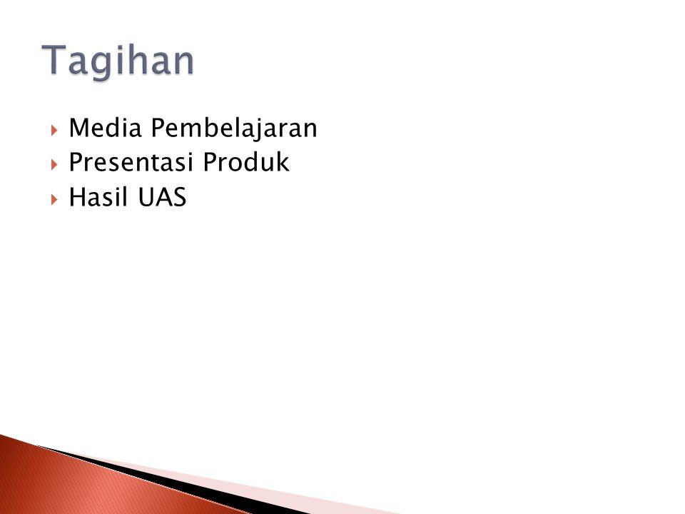  Media Pembelajaran  Presentasi Produk  Hasil UAS