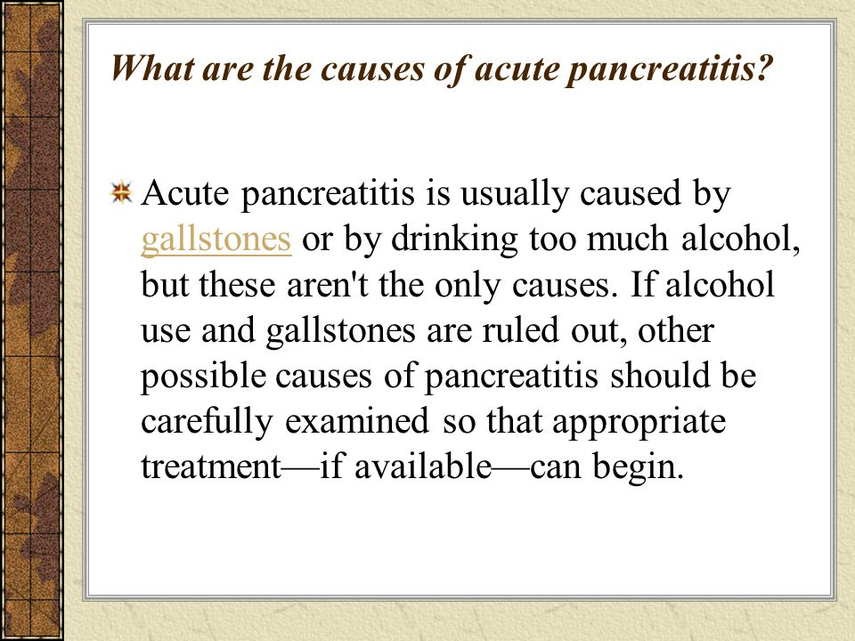 What are the symptoms of acute pancreatitis.