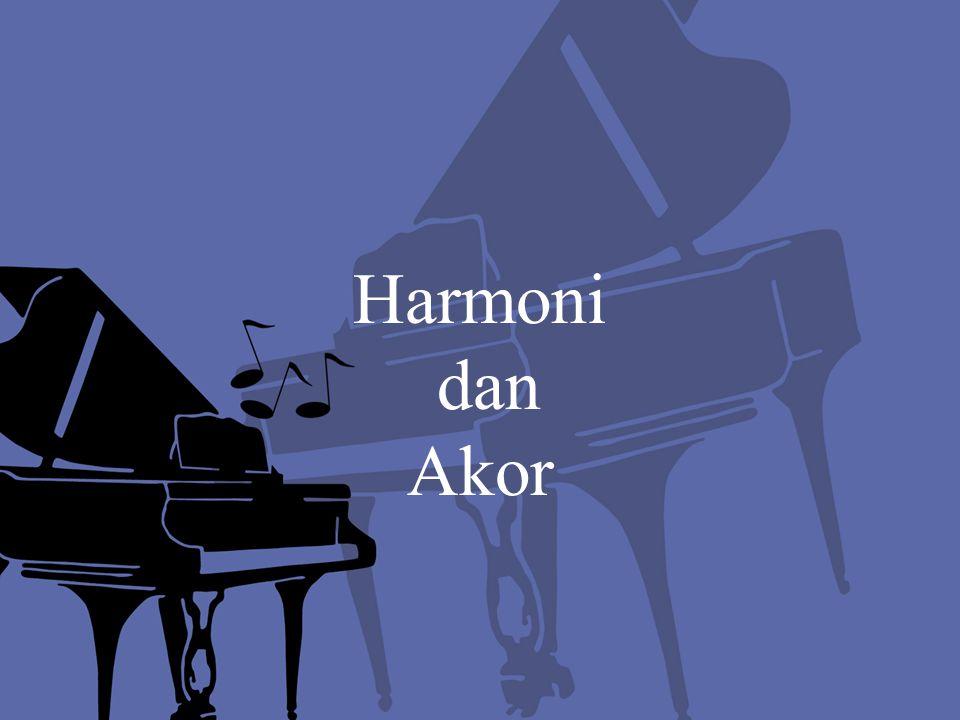 Harmoni Harmoni adalah salah satu teori musik yang mengajarkan bagaimana menyusun suatu rangkaian akord-akord agar musik tersebut dapat enak didengar dan selaras.