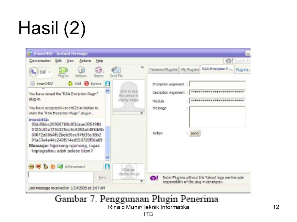 12 Hasil (2) Rinald Munir/Teknik Informatika ITB