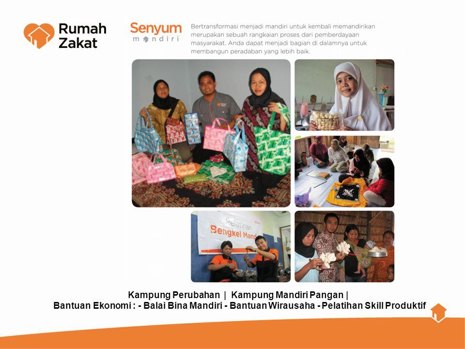 Kampung Perubahan | Kampung Mandiri Pangan | Bantuan Ekonomi : - Balai Bina Mandiri - Bantuan Wirausaha - Pelatihan Skill Produktif