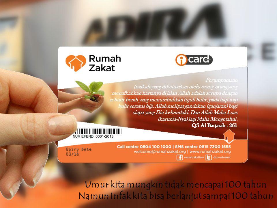 i-Card tak hanya memberikan kemudahan dalam berdonasi/berinfak, namun juga sebagai penerus pahala ketika donatur meninggal dunia.