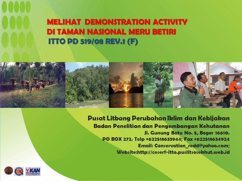 Pusat Litbang Perubahan Iklim dan Kebijakan Badan Penelitian dan Pengembangan Kehutanan Jl.