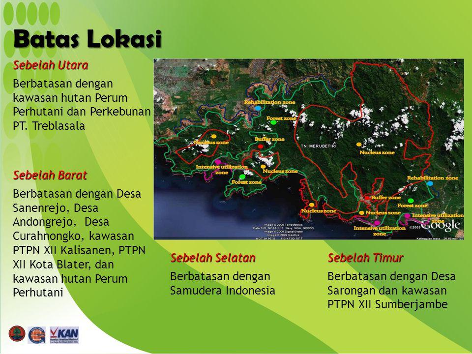 Sebelah Utara Berbatasan dengan kawasan hutan Perum Perhutani dan Perkebunan PT.