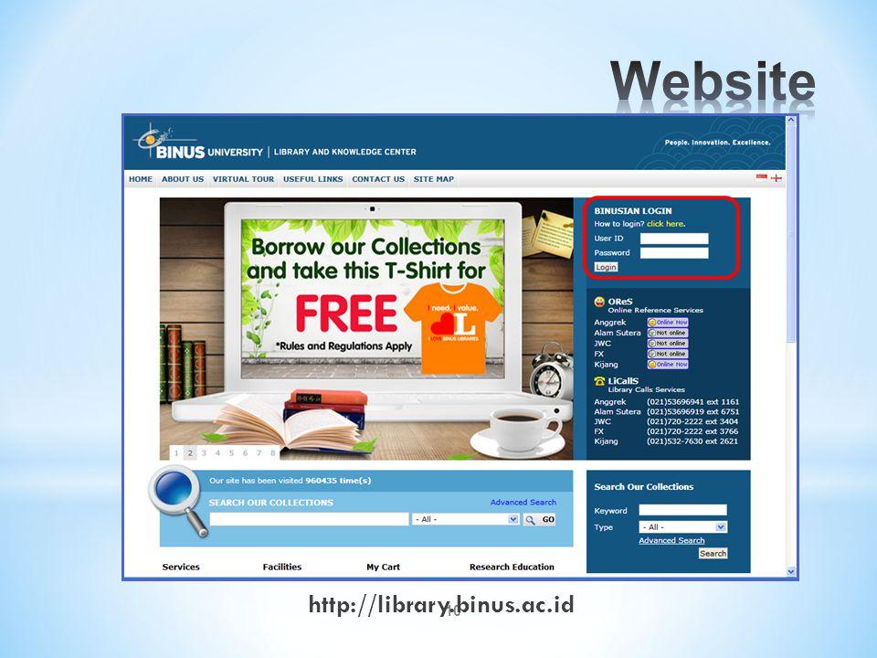 10 http://library.binus.ac.id
