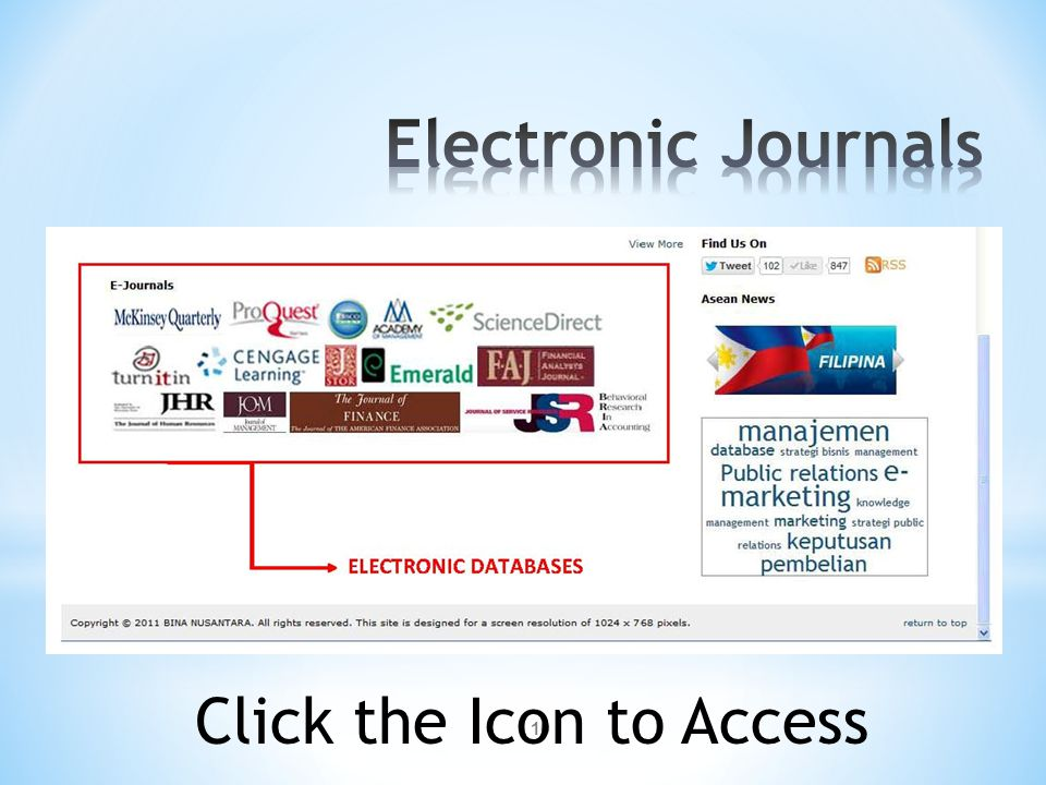 10 Click the Icon to Access