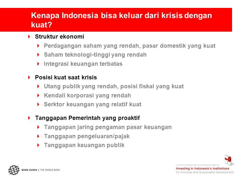 Kenapa Indonesia bisa keluar dari krisis dengan kuat.