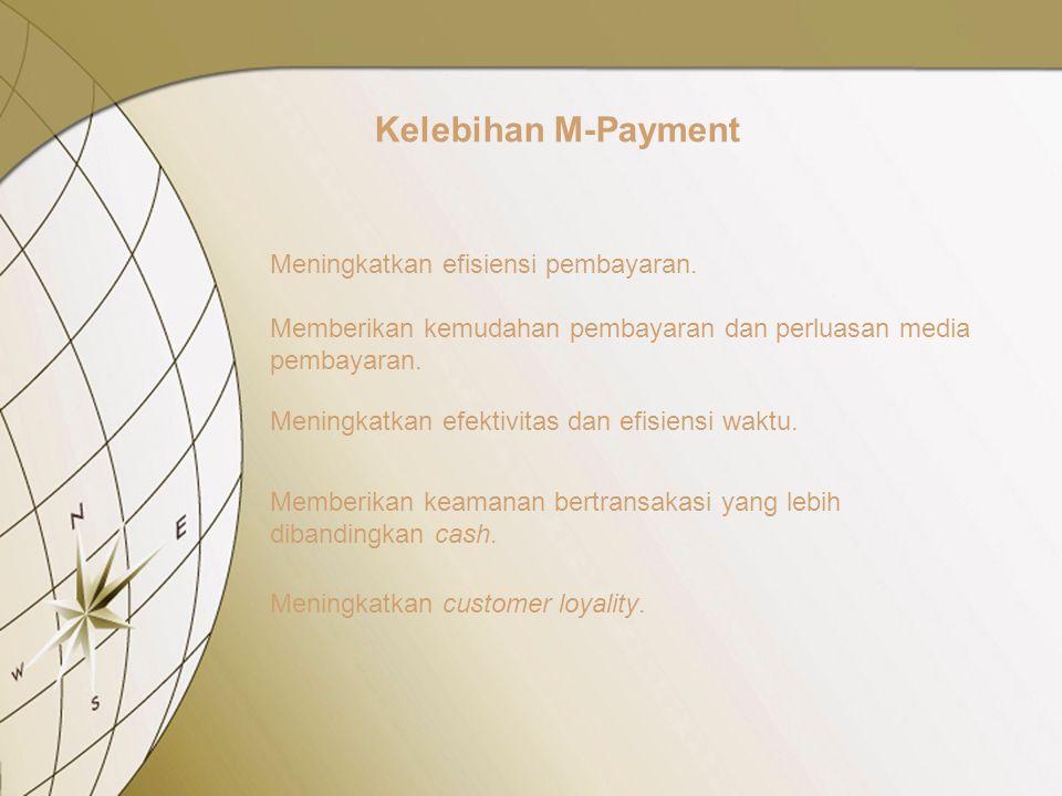 Kelebihan M-Payment Meningkatkan efisiensi pembayaran.
