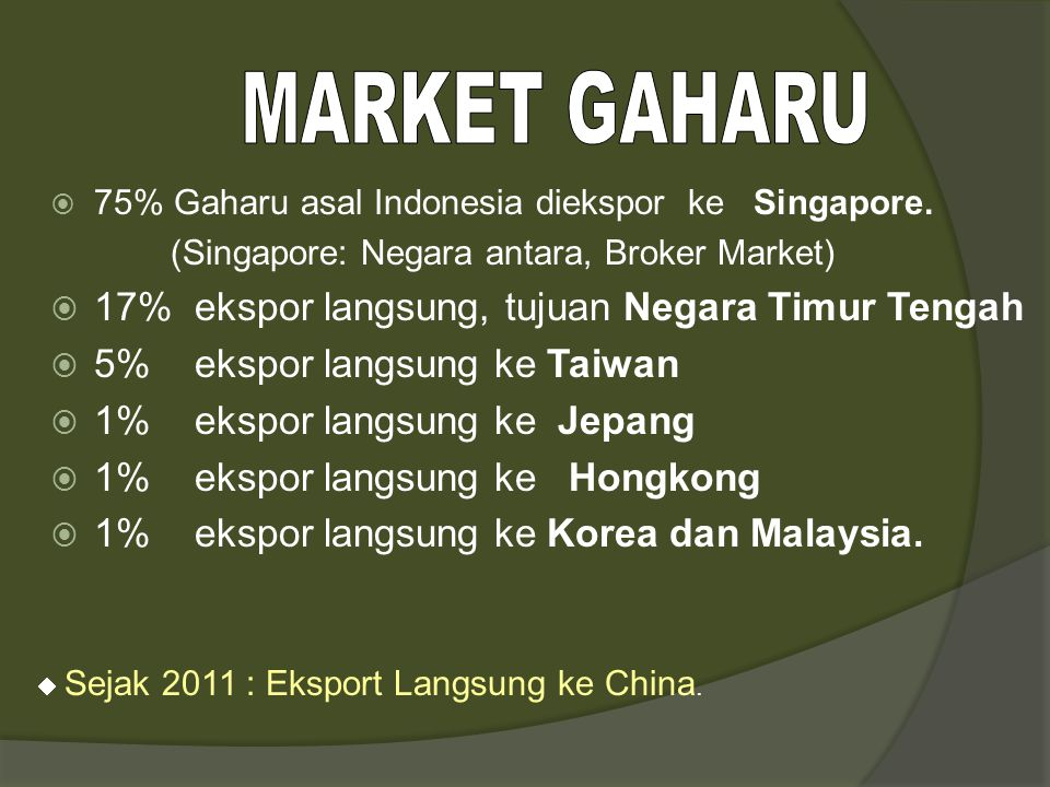 RRC Vietnam SINGAPURA Negara2 Timur-Tengah Jepang Sumatera Kalimantan Papua Nusa Tenggara Indonesia Perdagangan Gaharu asal Indonesia USA