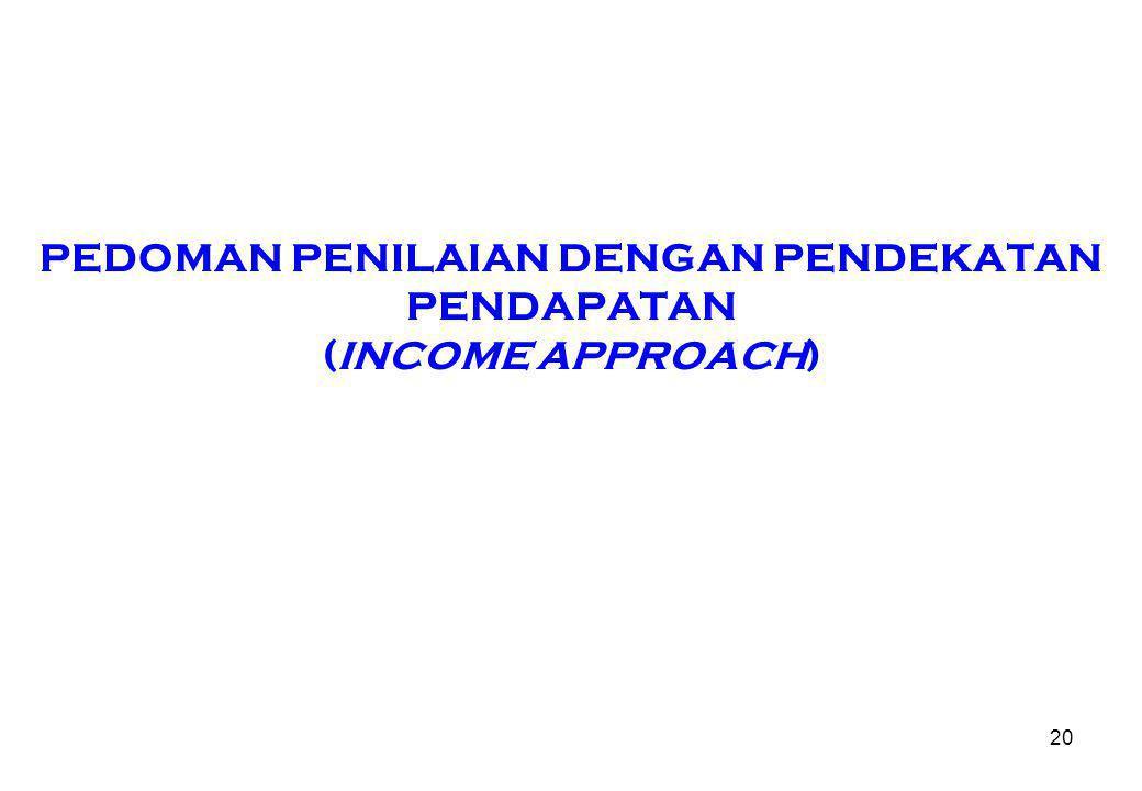 PEDOMAN PENILAIAN DENGAN PENDEKATAN PENDAPATAN (INCOME APPROACH) 20