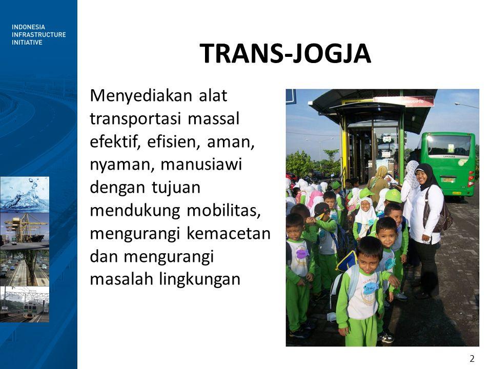 2 Menyediakan alat transportasi massal efektif, efisien, aman, nyaman, manusiawi dengan tujuan mendukung mobilitas, mengurangi kemacetan dan mengurang