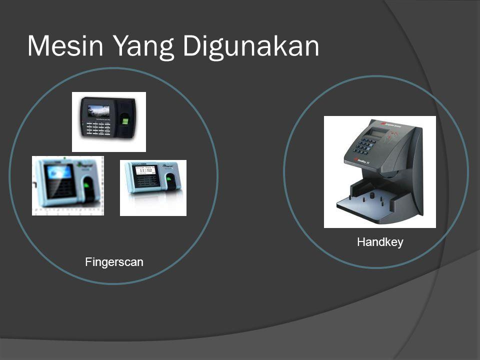 Mesin Yang Digunakan Fingerscan Handkey