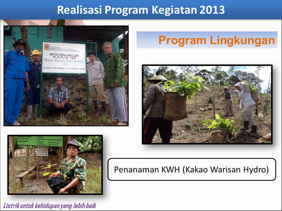 Listrik untuk kehidupan yang lebih baik Penanaman KWH (Kakao Warisan Hydro) Program Lingkungan