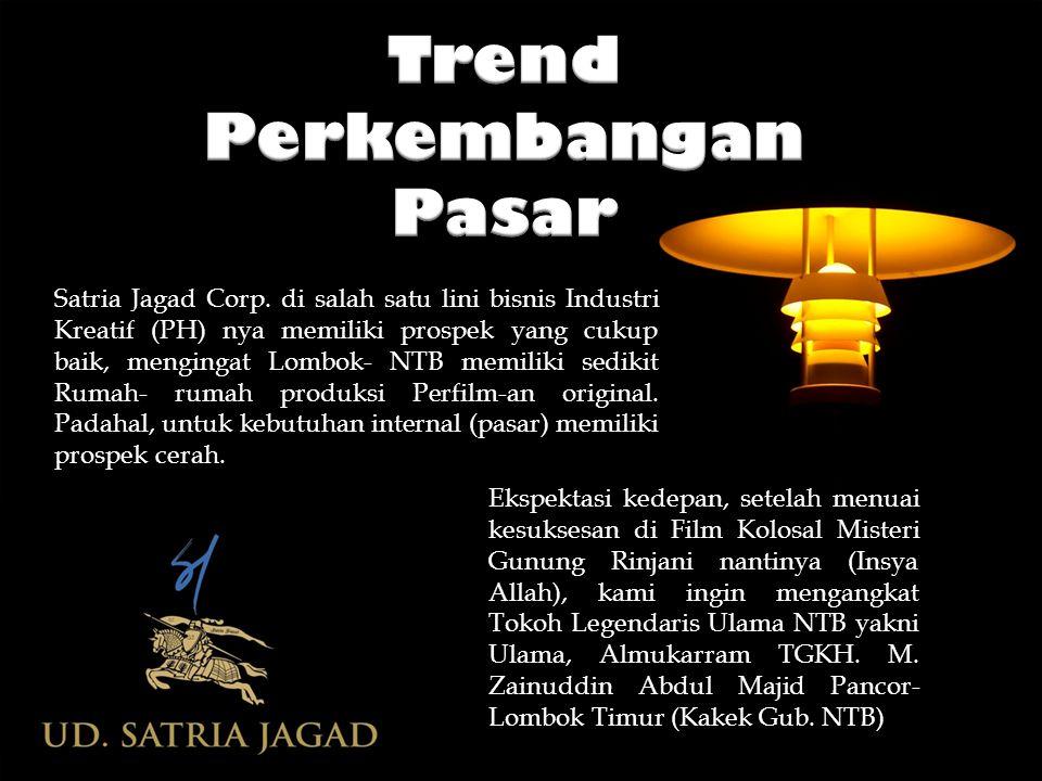 Satria Jagad Corp. di salah satu lini bisnis Industri Kreatif (PH) nya memiliki prospek yang cukup baik, mengingat Lombok- NTB memiliki sedikit Rumah-