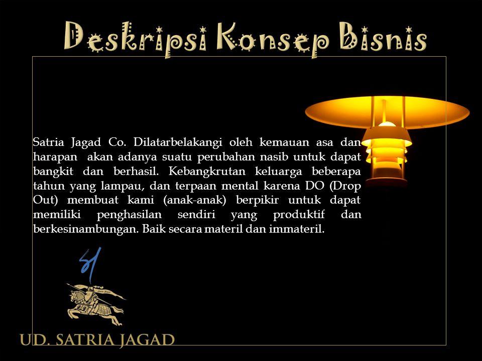 Satria Jagad Co. Dilatarbelakangi oleh kemauan asa dan harapan akan adanya suatu perubahan nasib untuk dapat bangkit dan berhasil. Kebangkrutan keluar