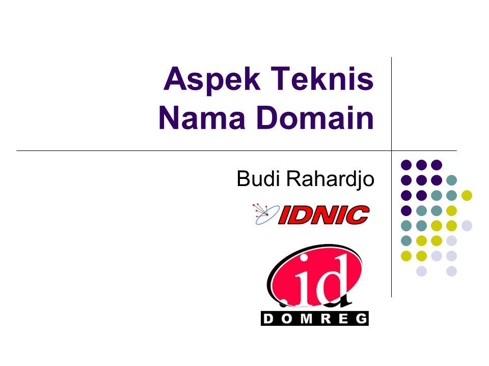 Aspek Teknis Nama Domain Budi Rahardjo