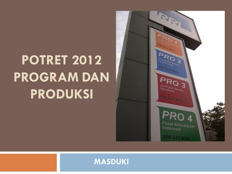POTRET 2012 PROGRAM DAN PRODUKSI MASDUKI