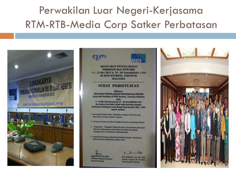 Perwakilan Luar Negeri-Kerjasama RTM-RTB-Media Corp Satker Perbatasan