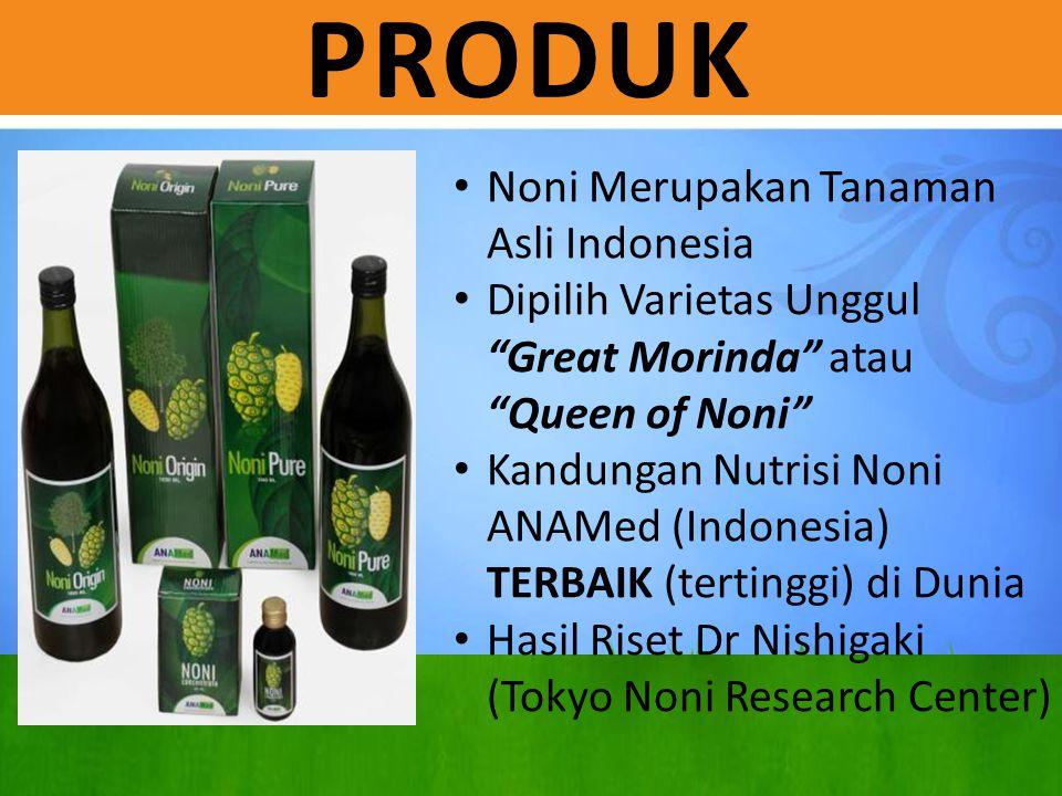 """PRODUK Noni Merupakan Tanaman Asli Indonesia Dipilih Varietas Unggul """"Great Morinda"""" atau """"Queen of Noni"""" Kandungan Nutrisi Noni ANAMed (Indonesia) TE"""