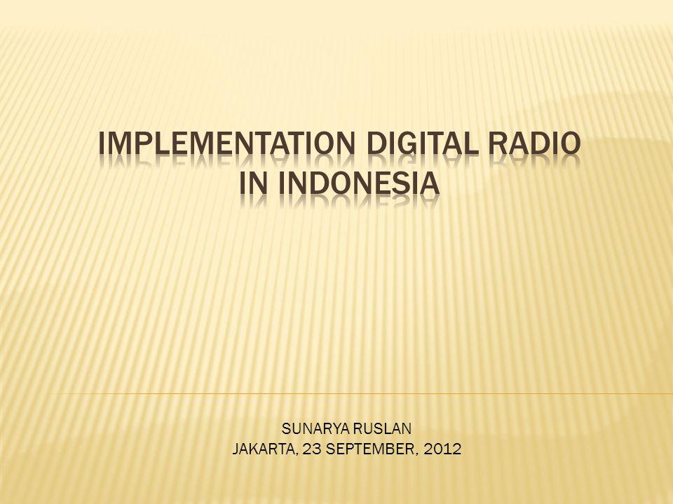 SUNARYA RUSLAN JAKARTA, 23 SEPTEMBER, 2012