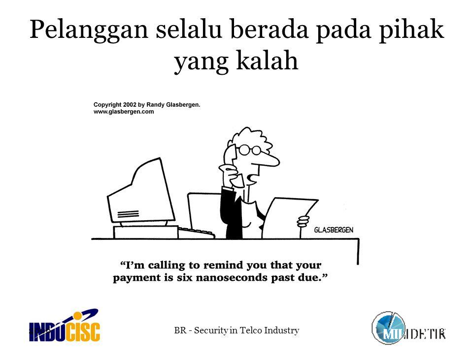 2006BR - Security in Telco Industry4 Belum ada regulator yang memiliki otoritas penuh sehingga regulation compliance belum mendapat perhatian