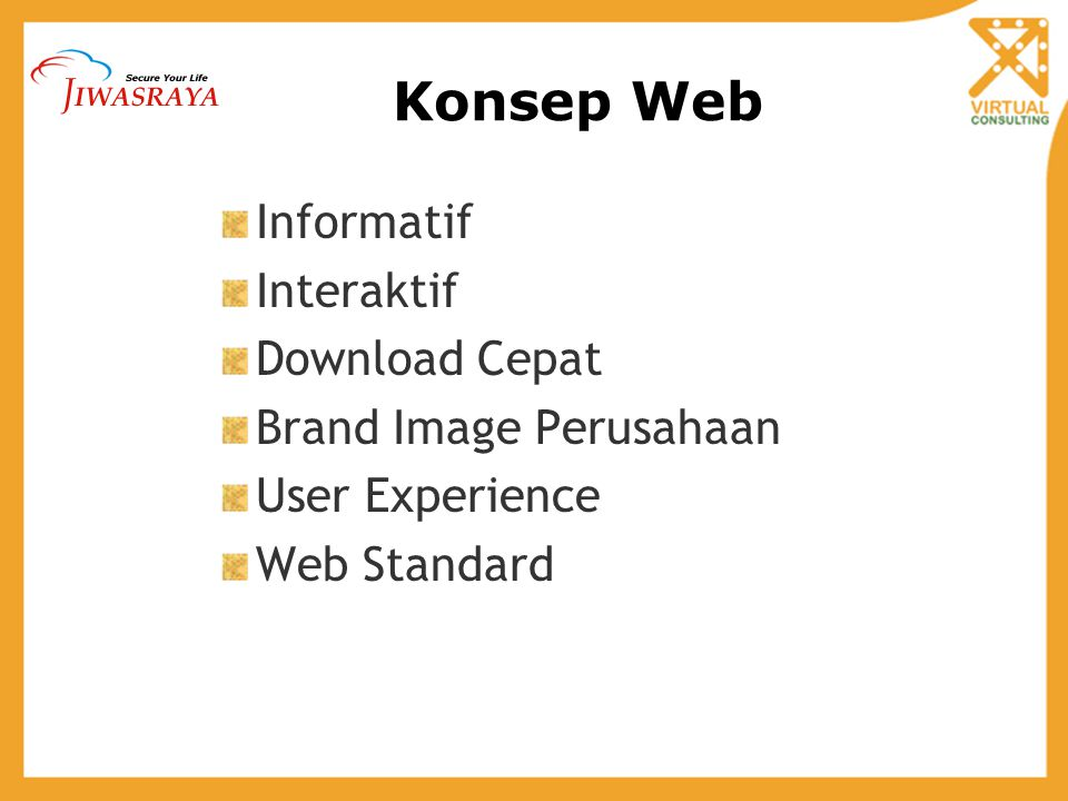 Konsep Web Informatif Interaktif Download Cepat Brand Image Perusahaan User Experience Web Standard